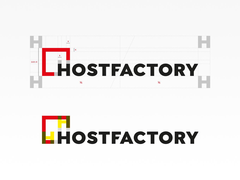 Logokonstruktion - Logo-Guidelines - Hostfactory