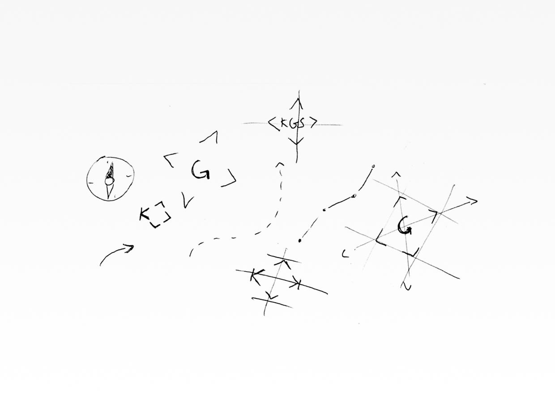 "KGS Winterthur logo sketches ""giving direction"""