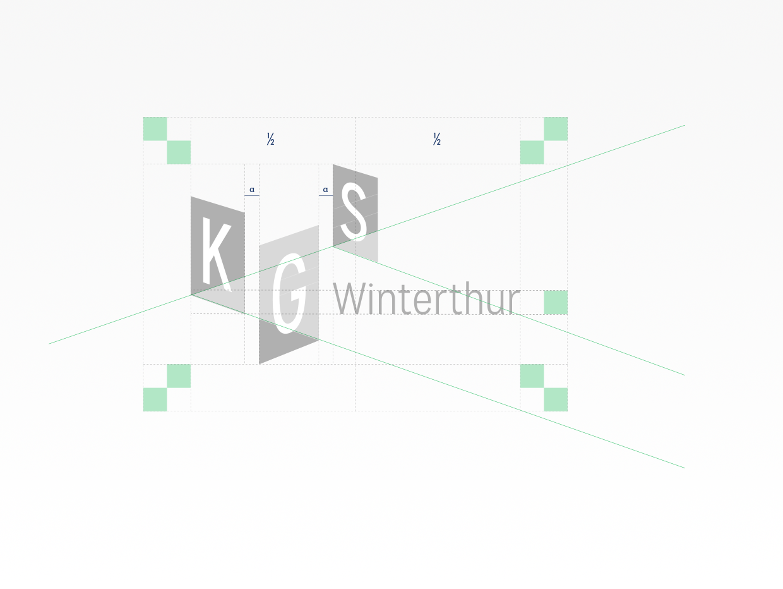 KGS Winterthur logo construction