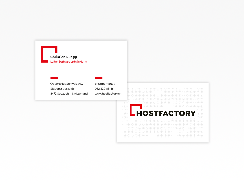 Visittenkarten - Visuelle Identität - Hostfactory