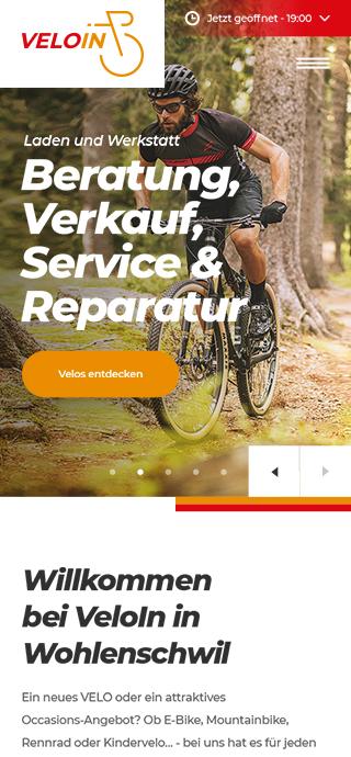 Veloin mobile screen 1